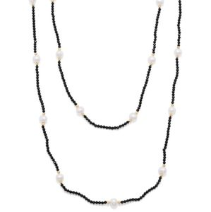 Endless  Spinel & Pearl Necklace